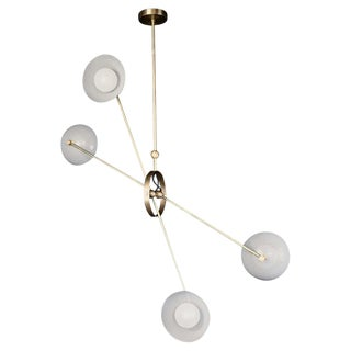 Parallax Ceiling Fixture in Brass and Gray Enamel by Blueprint Lighting, 2020 For Sale