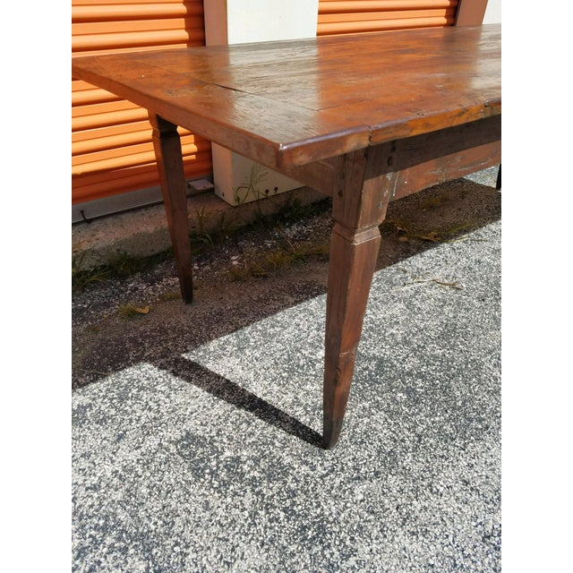 Antique French Farm Table - Image 3 of 8