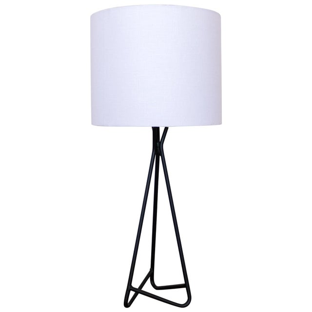Metal Sculptural Iron Table Lamp, 1950s For Sale - Image 7 of 7