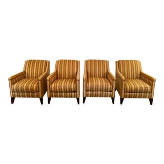 Striped Chairs From Sherrill Furniture - Set of 4 For Sale