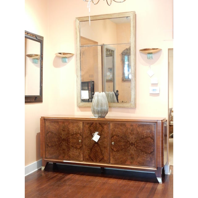 1940's Large French Walnut Enfilade by Maurice Rinck For Sale - Image 12 of 12
