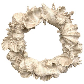 Naturalistic Coral and Shell Motif Porthole Mirror For Sale