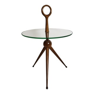 1950s Mid-Century Modern Sculptural Side or Drink Table For Sale