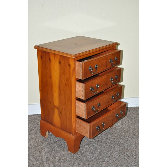 Vintage Yew Wood Miniature Chest of Drawers - Image 5 of 5