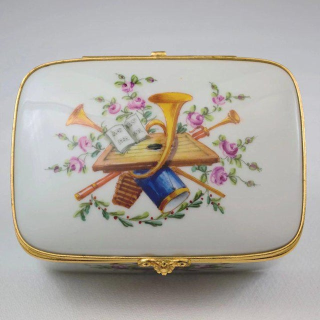 Atelier LeTallec porcelain box from the Attributs de Musique (Attributes of Music) portfolio. This is a beautifully...