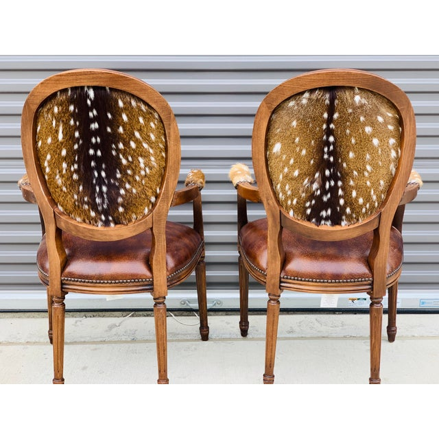 2010s Modern Axis Hide Parlor Chairs- a Pair For Sale - Image 5 of 9