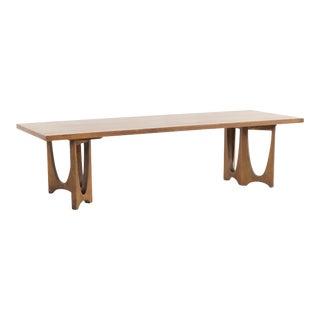 1960s Mid Century Modern Broyhill Brasilia Rectangular Walnut Coffee Table For Sale
