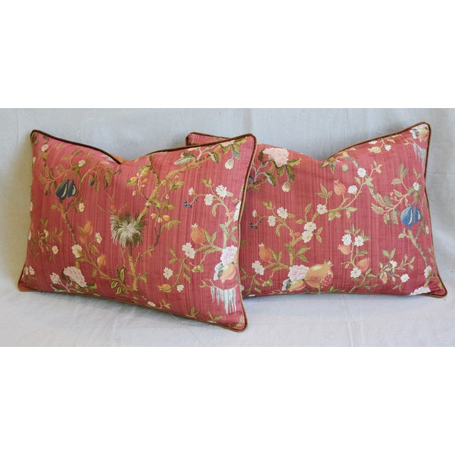 """Italian Scalamandre Melograno Silk Feather/Down Pillows 26"""" X 18"""" - Pair For Sale - Image 10 of 13"""