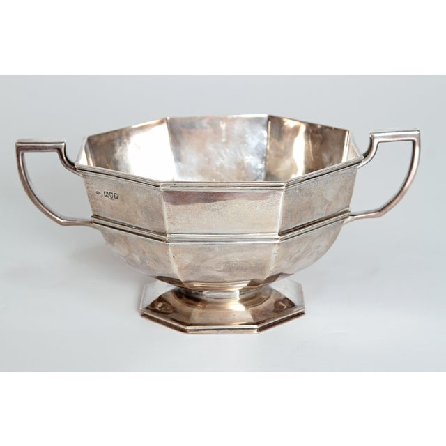 Amorial Silver Pedestal Bowl / Cup by C. C. Pilling for Tiffany & Co. For Sale In Dallas - Image 6 of 11