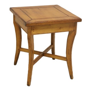 Woodland Furniture Idaho Falls Giles Distressed Cottage Style Accent Table 2 For Sale
