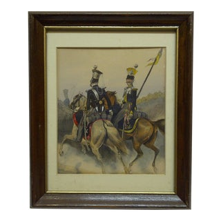 """""""2 Officers Side by Side"""" Framed & Matted Print For Sale"""