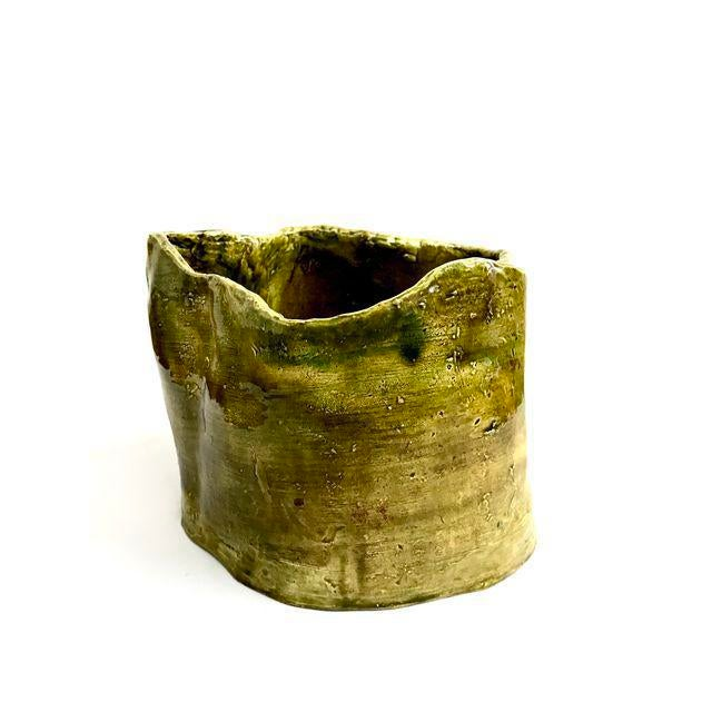 Olive Green Abstract Ceramic Pots - Image 6 of 7