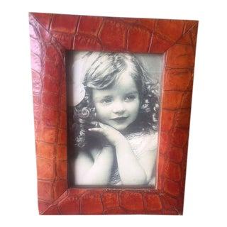 Vintage Alligator Picture Frame For Sale