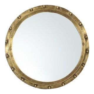 Industrial Brass Rivet Mirror For Sale