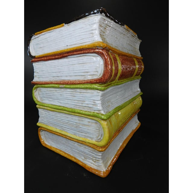 Vintage Italian Terracotta Stacked Books Garden Stool - Image 8 of 11