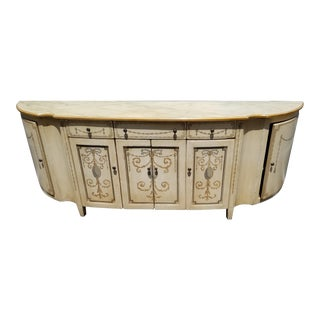 1980s Traditional Custom Hand-Painted French Buffet