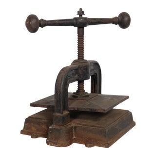 1900 Cast Iron Book Press For Sale