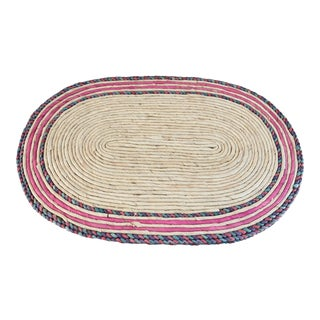 Henri Bendel Natural Straw Multicolor Placemats - Set of 4 For Sale