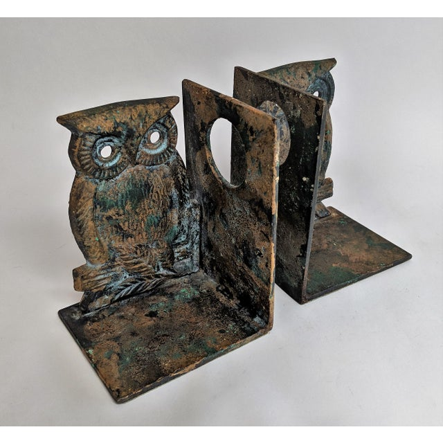 Vintage Metal Owl Bookends - A Pair - Image 3 of 9