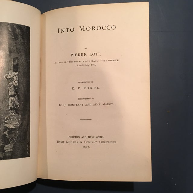 """1892 Leather """"Into Morocco"""" 1st Edition Book - Image 5 of 10"""