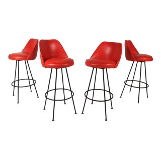 Vintage Admiral Chrome Corporation Modern Bar Stools - Set of 4