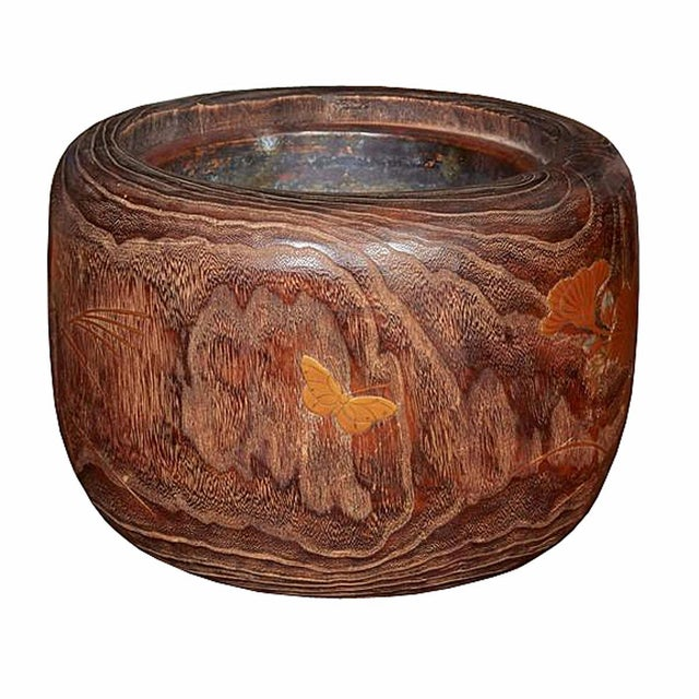 Asian Late 19th Century Wood and Copper Braziers / Hibachis For Sale - Image 3 of 9