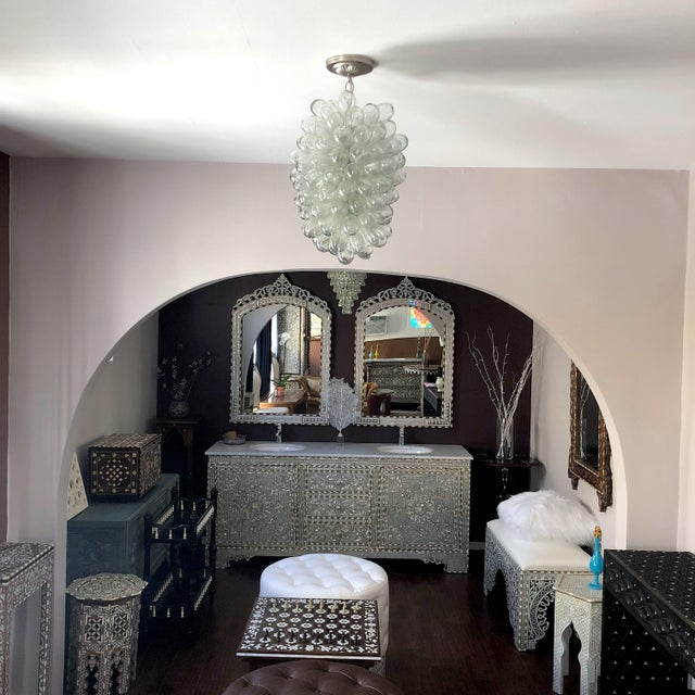 Clear Handblown Glass Light Fixture For Sale In Los Angeles - Image 6 of 10
