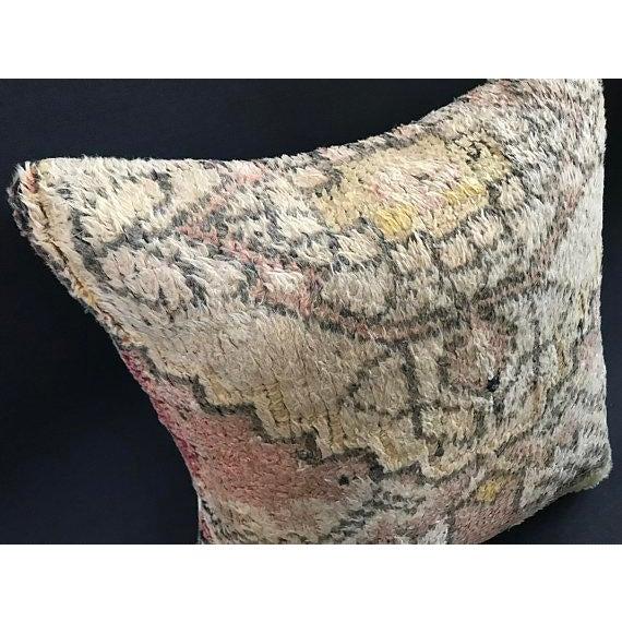 Boho Chic Turkish Anatolian Oushak Wool Pillow Case For Sale - Image 3 of 9