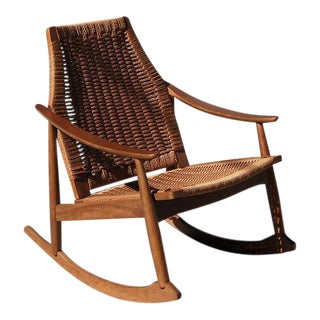 Wicker Weave Rocking Chair