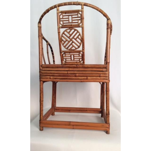 Antique Chinese Wooden Chair - Image 7 of 7