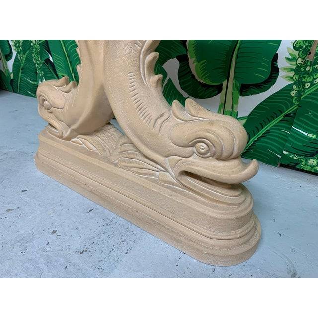 Asian Asian Dolphin Console Table For Sale - Image 3 of 7