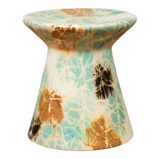 Chinese Contemporary Artisan Hand Painted and Glazed Garden Seat For Sale