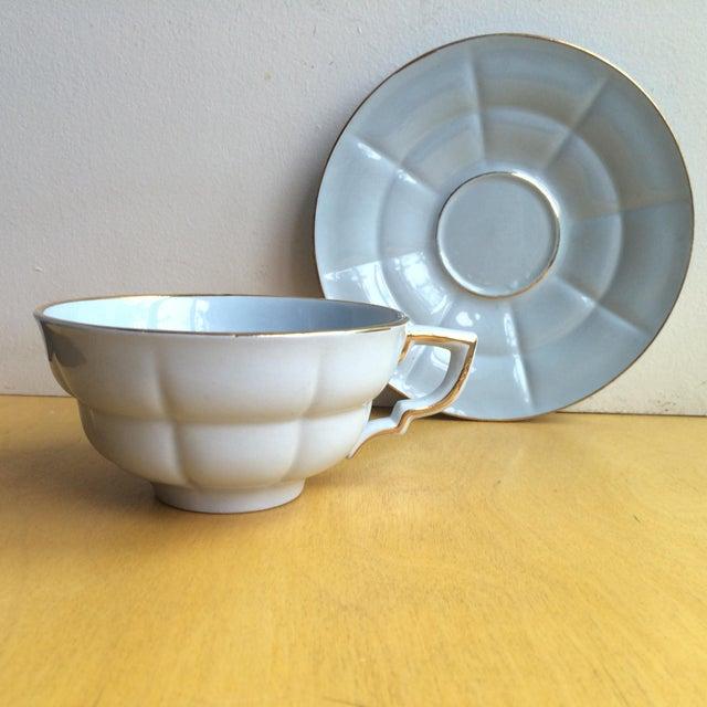 3-Piece Upsala Ekeby Cup & Saucer Set - Image 6 of 8