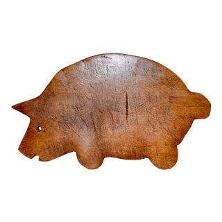 Early 20th C Animal Shaped Cutting Board For Sale
