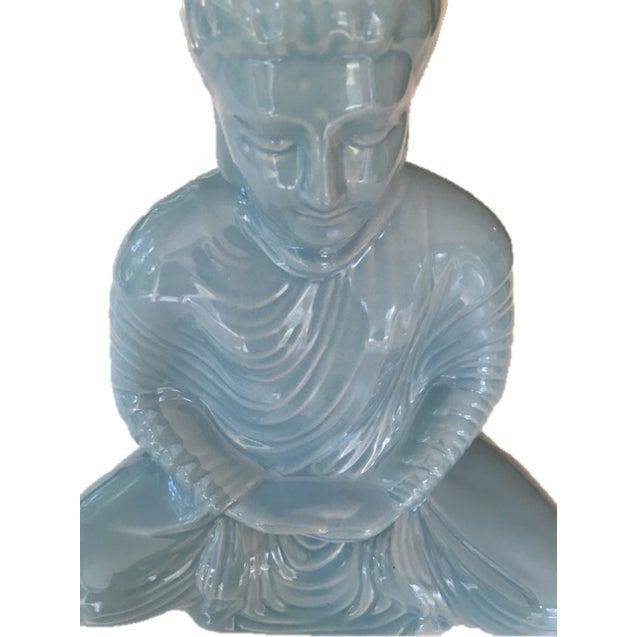 Ceramic Aqua Blue Buddha - Image 4 of 4
