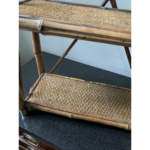 English Early 20th Century Bamboo Hanging Shelf For Sale - Image 3 of 5