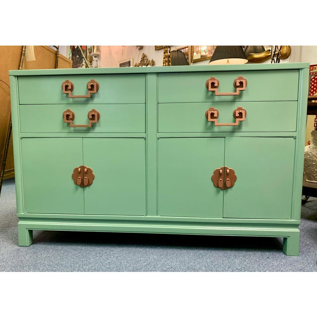 1960s Landstrom Furniture Co. Chinese Chippendale Sideboard For Sale - Image 13 of 13