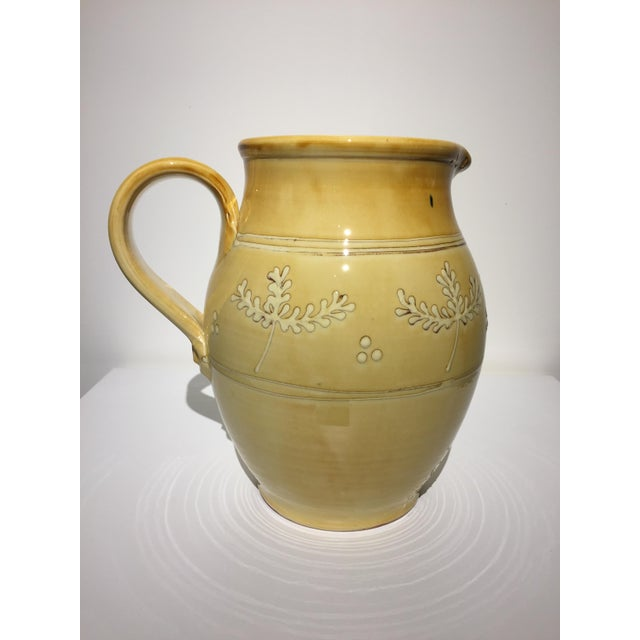 French Pottery Leaf Pitcher - Image 4 of 7