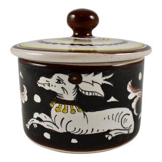 Vintage Italian Deruta Covered Cache Pot