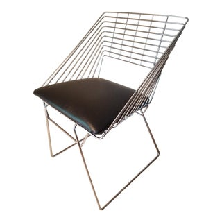 Mid Century Modern Verner Panton Steel Wire Fritz Hansen Chair For Sale