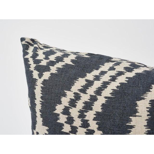 Schumacher Schumacher Asaka Ikat Linen Print Double-Sided Pillow For Sale - Image 4 of 9