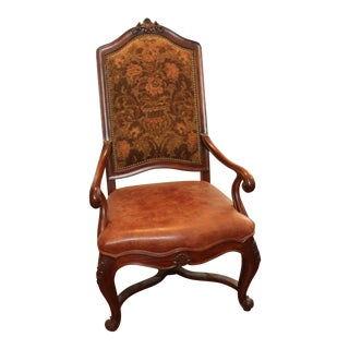 1990s Transitional Henredon Alfresco Walnut Arm Chair