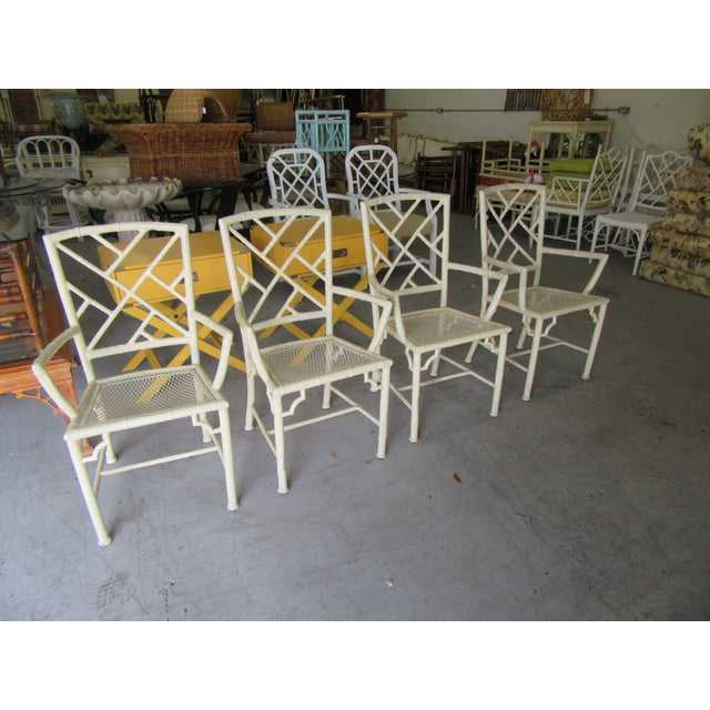 Chippendale Chippendale Meadowcraft Aluminum Patio Set - 5 Pieces For Sale - Image 3 of 9
