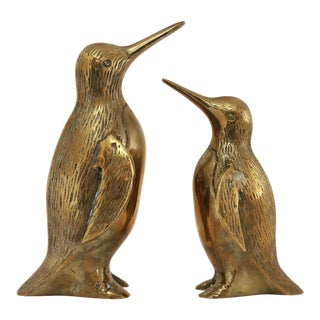 Vintage Brass Penguin Figurines - a Pair For Sale