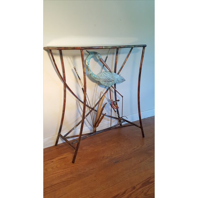 Mid-Century Modern Jere Style Brass Console - Image 6 of 8