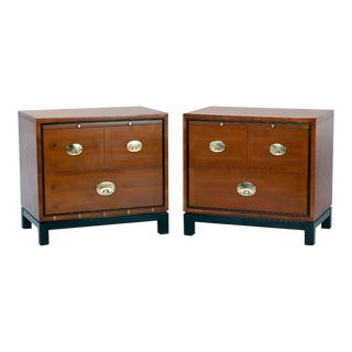 Midcentury Asian Modern Nightstands - A Pair For Sale
