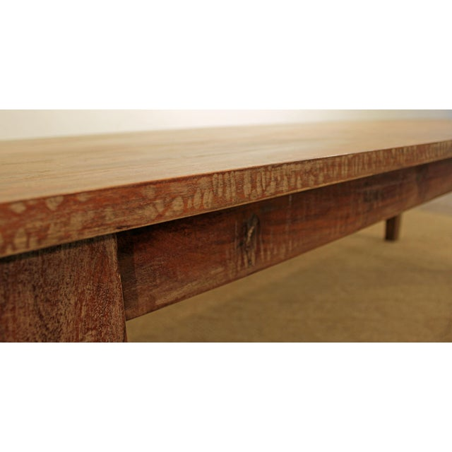 """French Country Farm Rustic Dining Table 90"""" Long - Image 6 of 11"""