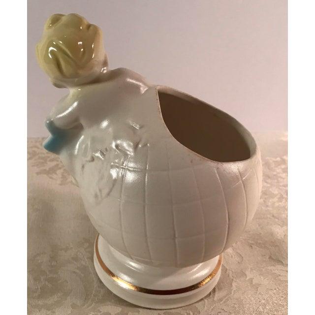 Art Deco Baby & Globe Ceramic Vase - Image 6 of 11
