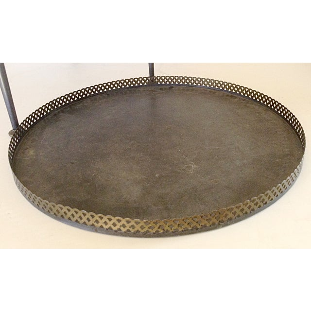 Round Metal Tray Top Side Table - Image 4 of 4