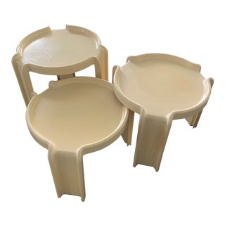 1970s Italian Giotto Stoppino for Kartell Nesting Tables - Set of 3 For Sale